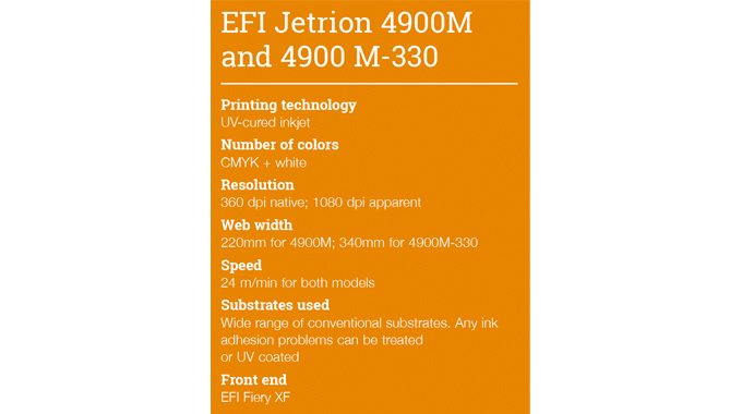 EFI Jetrion 4900M and 4900 M-330