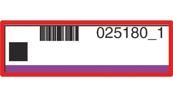 Figure 1.13 The printed barcode picked up by the AVT Camera