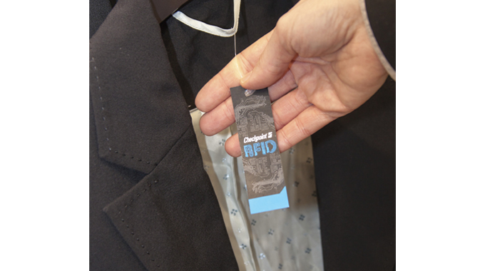 Figure 1.5 - An anti-theft RFID label or tag can be added to a product to identify stolen products i