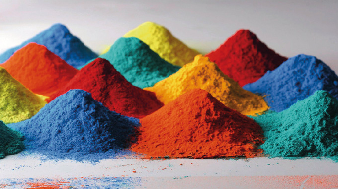 Figure 1.6 Pigments form the color element of most label inks. Source- BASF