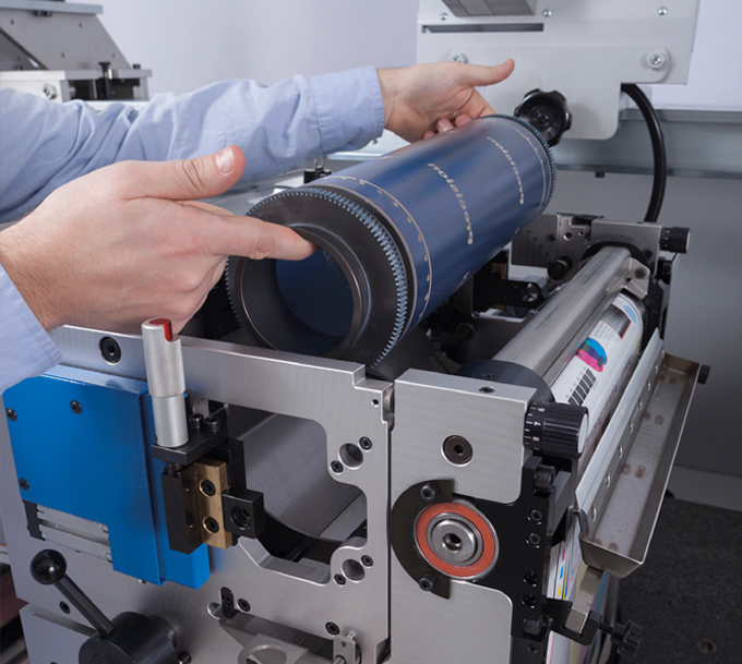 Figure 10.3 - UV rotary screen printing