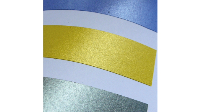 Figure 10.6 - Pearlescent inks create a metallic lustre