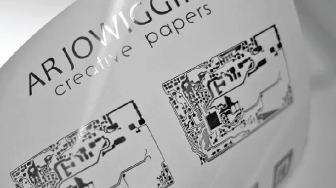Figure 12.15 - Powercoat from Arjo Wiggins allows paper substrates to be used for printed electronic