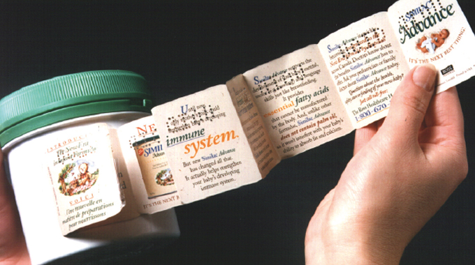 Figure 13.6 - Extended text leaflets solve the problem of overcrowded labels