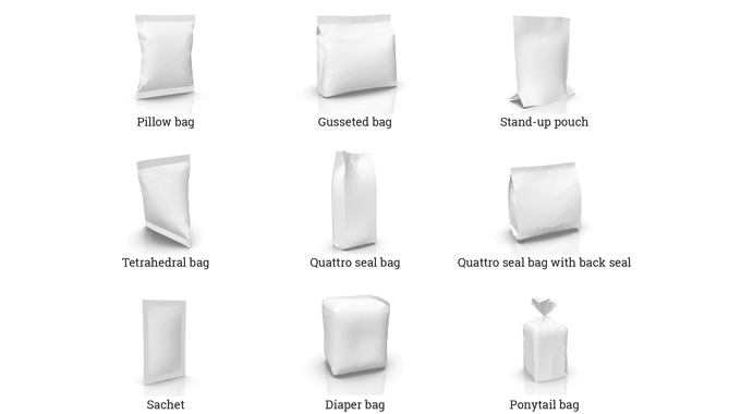 Figure 1_6 Image examples of common flexible packaging types. Source- Esko