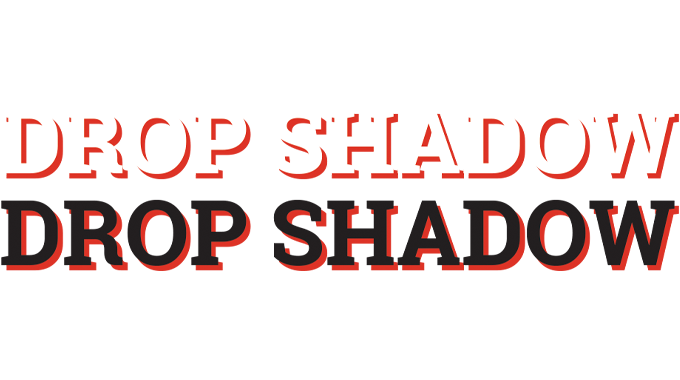 Figure 2.14 - Drop shadow illustrated