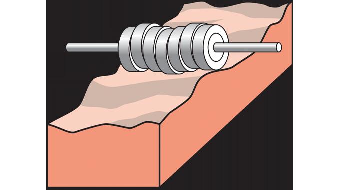 Figure 2.18 - Application onto uneven or flexible packs