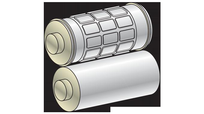 Figure 2.22 - Rotary die and anvil roller