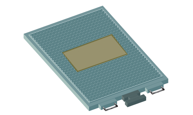 Figure 2.3 - Honeycomb base with embossing plate mounted