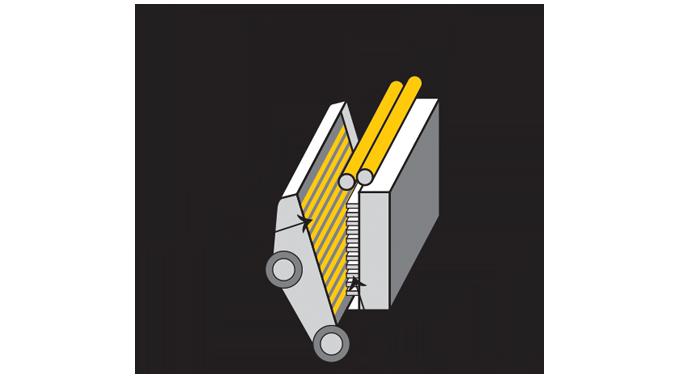 Figure 2.4 - Diagram of platen press (4impression)