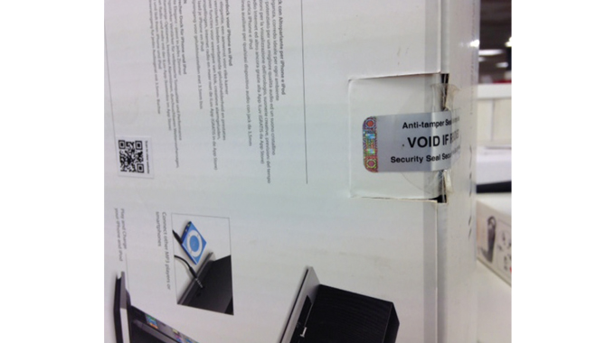 Figure 3.10 - Tamper evident devices become an important component in brand protection applications
