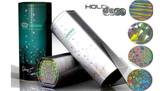Figure 3.1 - Holographic effects can be added to metal based packaging in order to enhance its appea