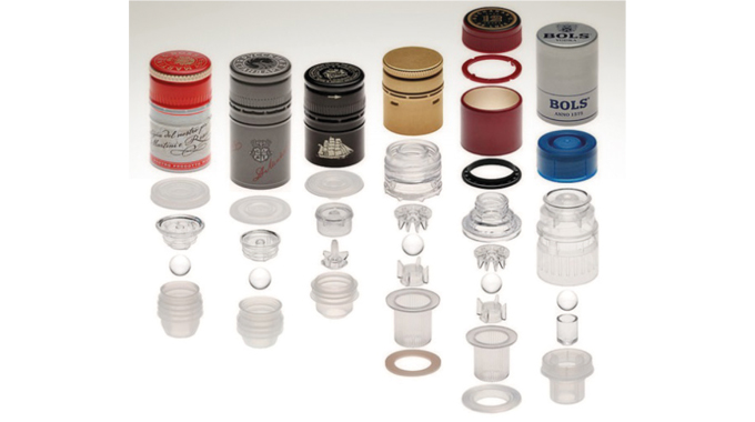 Figure 3.2 - Various tamper evident non-refillable systems exist. Picture- Guala Closures