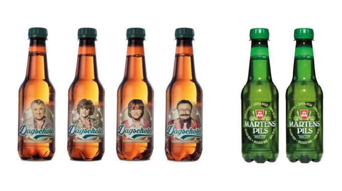 Figure 3.2 Examples of direct digital inkjet printing on to PET bottles (Supplied by NMP/KHS)