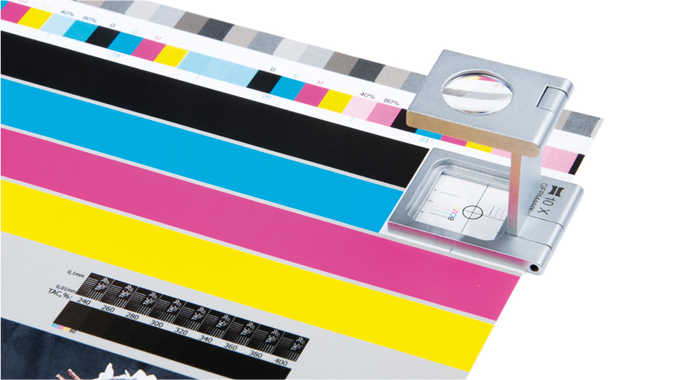 Figure 3.30 - Color control bars help the printer control quality on press