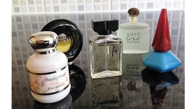 Figure 3.3 - Examples of individually-designed perfume bottles