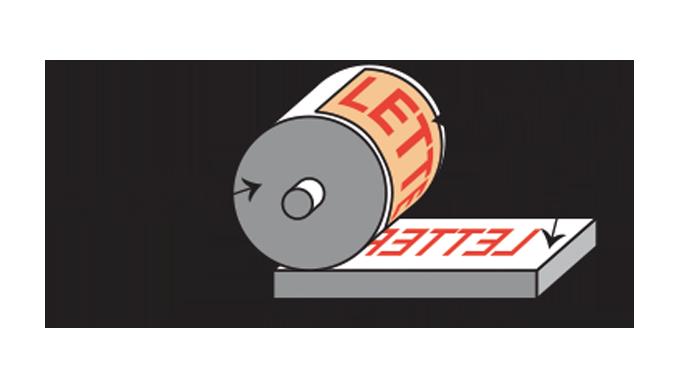 Figure 3.5 - Principle of sheet-fed letterpress