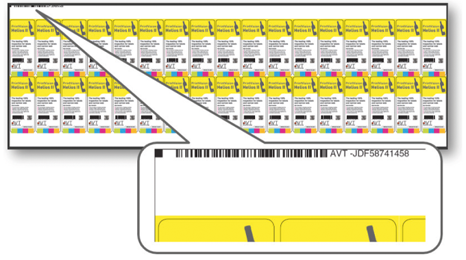 Figure 3.6 AVT Zeroset system uses a printed barcode for verifying the output