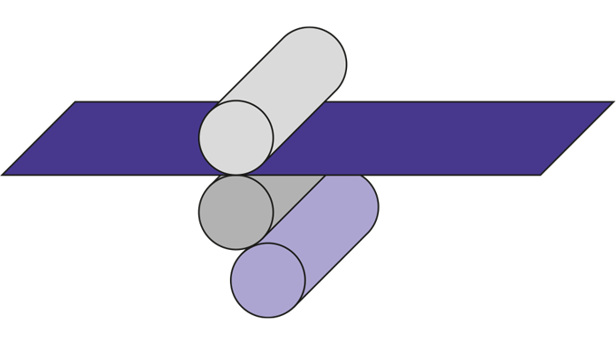 Figure 3.9 Offset gravure coater (3-roll)