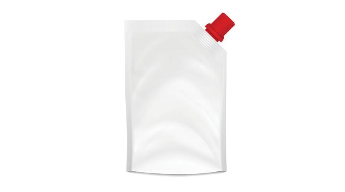 Figure 3_13 Pouch with top corner spout