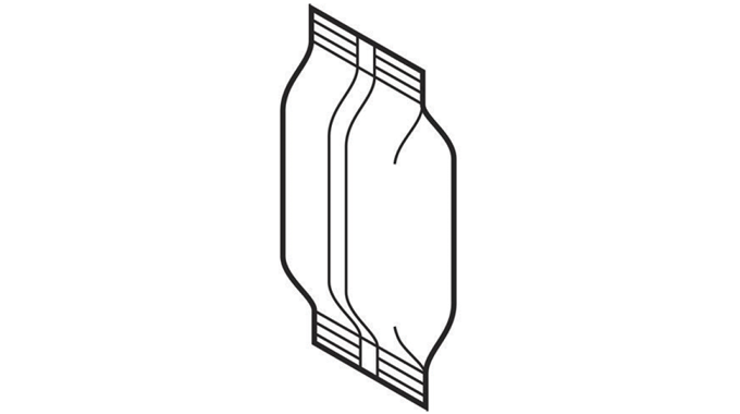 Figure 3_6 A simplified drawing of a pillow pouch. Source- Esko