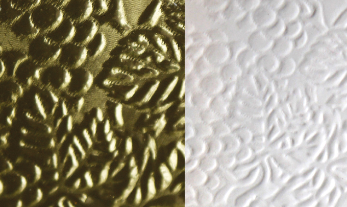 Figure 4.12 - Examples of combination foil/embossing