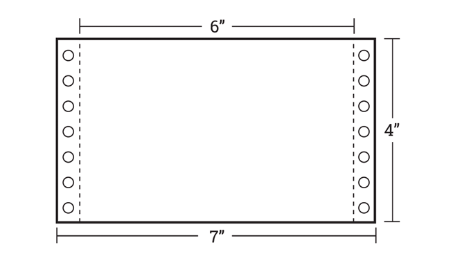 Figure 4.13 - Hole punched and perforated shelf-edge tickets