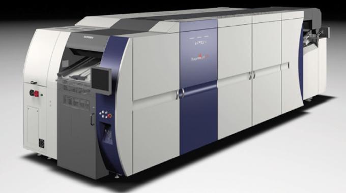 Figure 4.4 - Illustration shows the Screen Europe Truepress Jet SX folding carton press