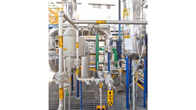 Figure 4.4 Adhesive manufacturing plant