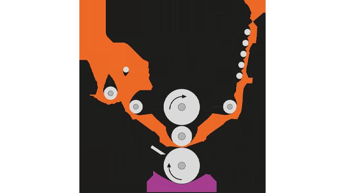Figure 4.6 A typical gravure coating unit