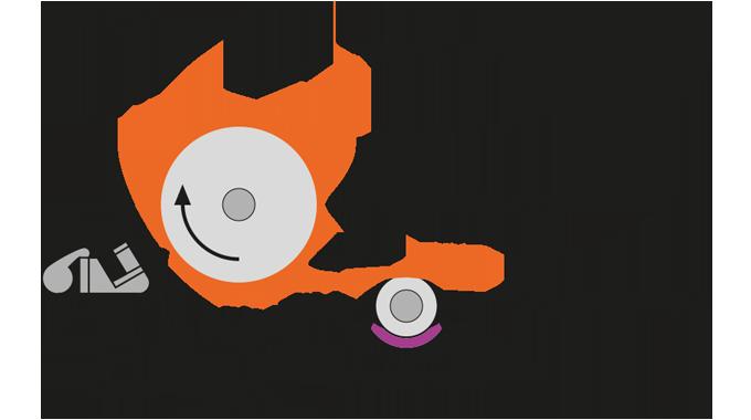 Figure 4.7 The knife coating process