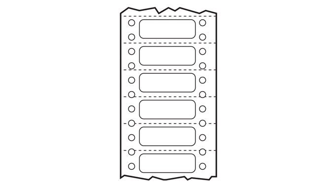 Figure 4.8 - Sprocket hole punched and perforated computer labels