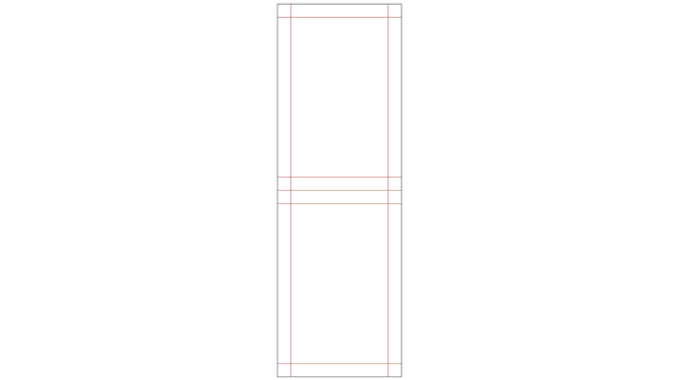 Figure 4_9 Structure of a four-side seal sachet