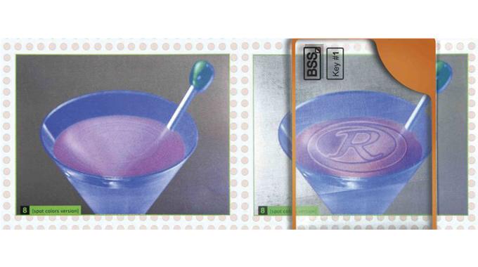 Figure 5.3 - The image (left) shows an embedded covert HIT design- slightly enhanced