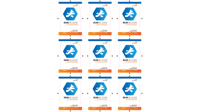 figure 5.3 - the step and repeat prepares for multi-image printing