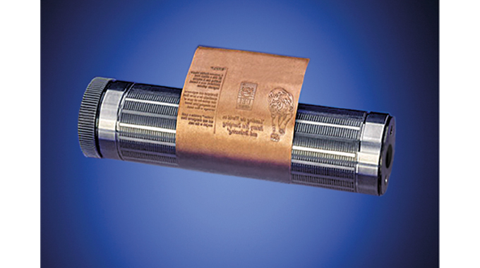 Figure 6.14 - Magnetic base cylinder used with UniFlex flexible foiling dies. Source U.E.I Falcontec
