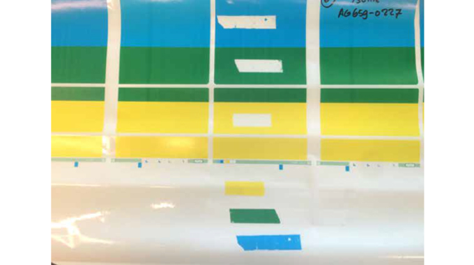 Figure 6.3 Ink anchorage tape test