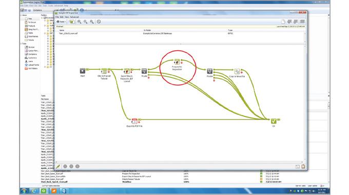 Figure 6.4 JDF job inspection set-up in an AVT system