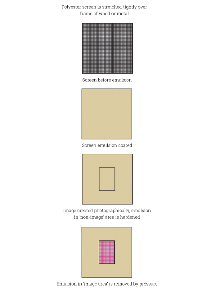 Figure 6.5 - The stages of flatbed screen imaging