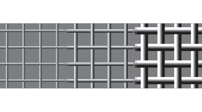 Figure 6.8 - Different grades of screen mesh
