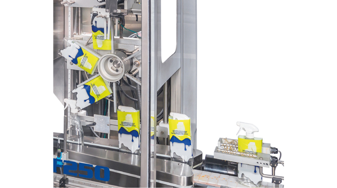 Figure 6.9 A carousel sleeve applicator in operation © 2017 Accraply, Inc