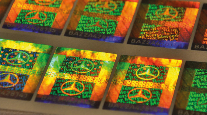 Figure 7.11 - Shows the bespoke production of holographic foil. .jpg