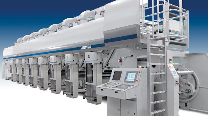 Figure 7.1 - Modern gravure printing press. Source- Bobst Rotomec