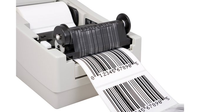 Figure 7.5 - The thermal transfer printing head enables the black heat-activated coating on the ribb