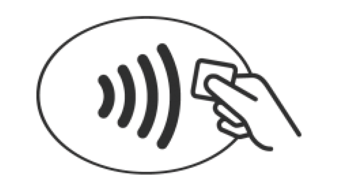 Figure 8.15 - The NFC symbol can now be seen on most new issues of credit and debit cards and indica