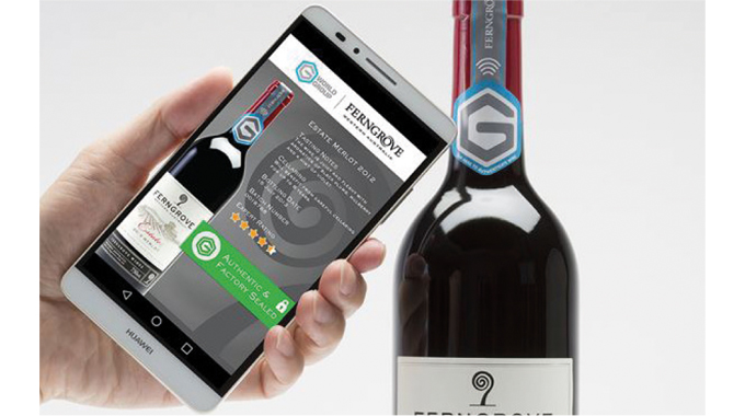 Figure 8.16 - Shows a smart phone NFC authentication process in action. Note NFC symbol on the neck