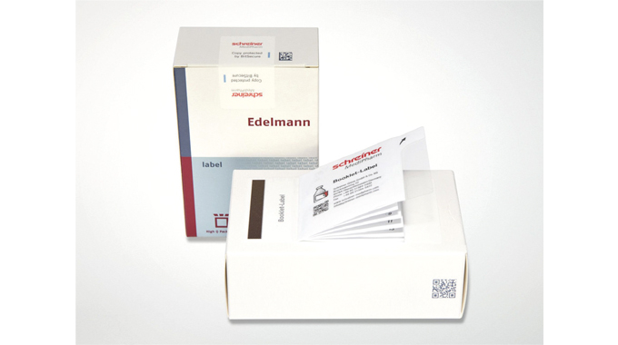 Figure 8.2 - Shows the use of barcodes for tracking individual packs. Note the additional booklet la