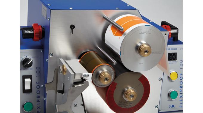 Figure 8.5 A miniature flexo press. Source- RK PrintCoat Instruments