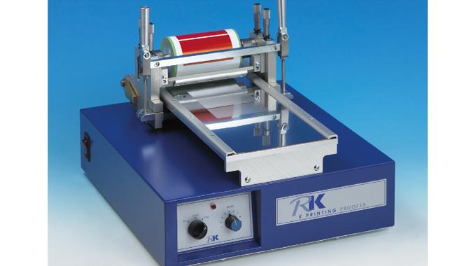 Figure 8.6 Using a gravure coating technique to simulate flexo print. Source- RK PrintCoat Instrumen