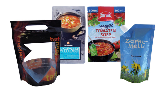 Figure 8.7 Stand up pouches for the food sector